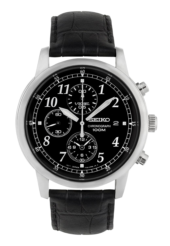 Seiko Reloj Cronógrafo de Cuarzo para Hombre con Correa de Piel – SNDC33P1