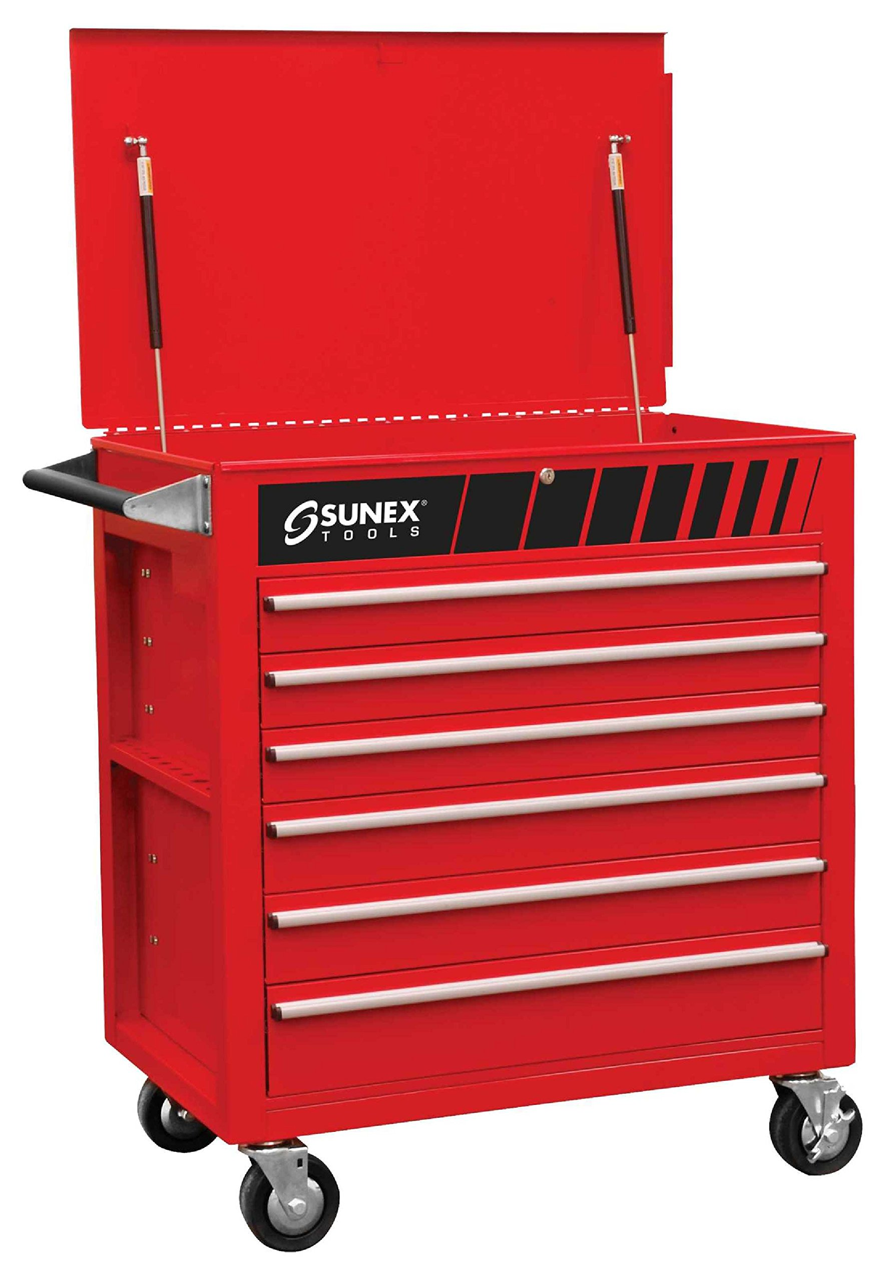 Sunex 8057 Premium Full Drawer Service Red Cart