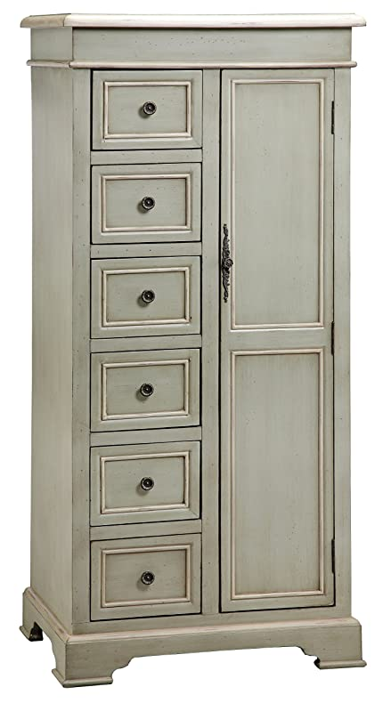 Stein World Furniture Chesapeake Cabinet, Soft Cadet Grey Finish With Cream  Trim