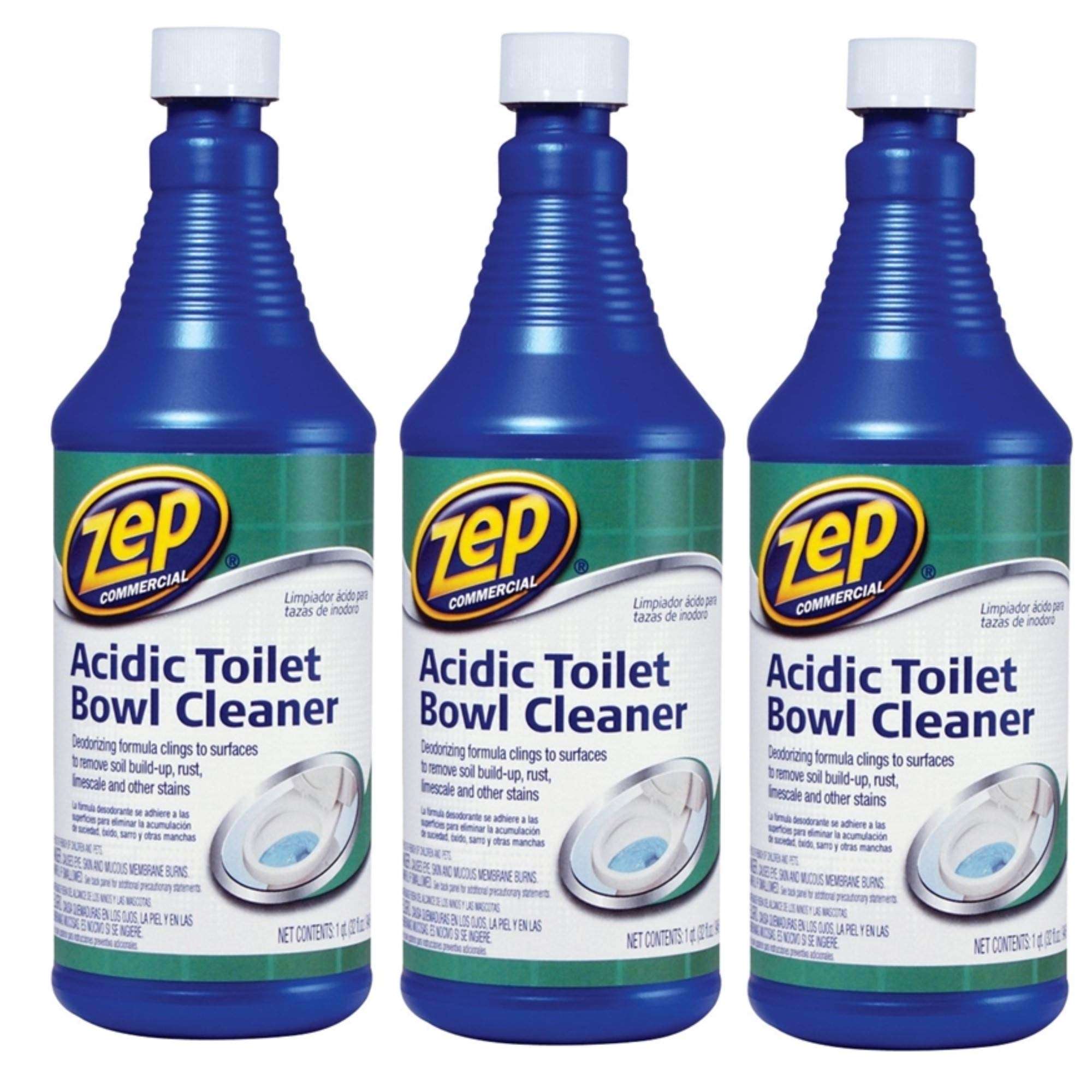 Zep Commercial Acidic Toilet Bowl Cleaner, 32 Ounce - 3 PACK