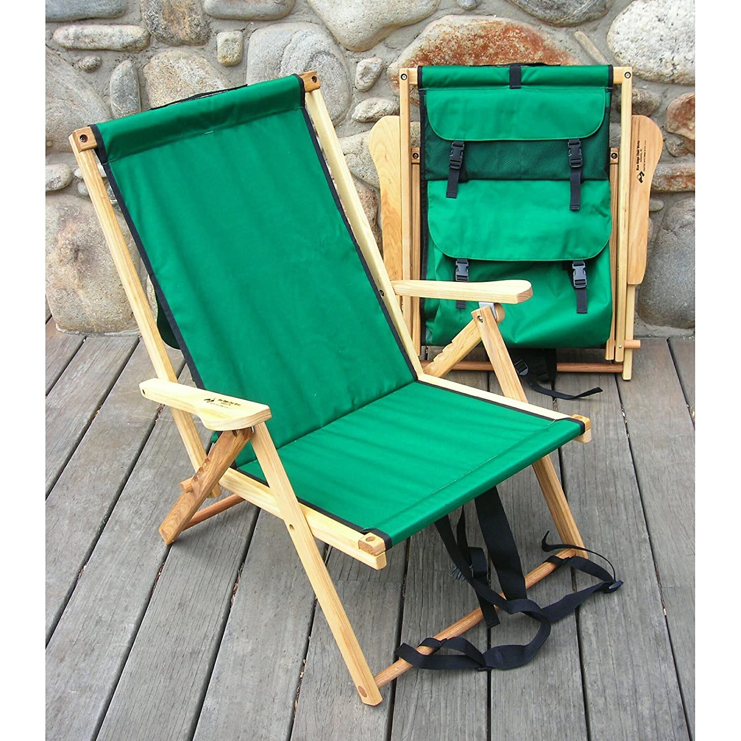 Amazon Back Pack Folding Beach Chair Fabric Forest Green