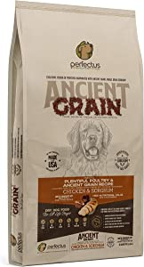 Perfectus Plentiful Poultry and Ancient Grain Recipe - Natural, Non GMO, High Protein Premium Dry Dog Food 25 lbs Bag