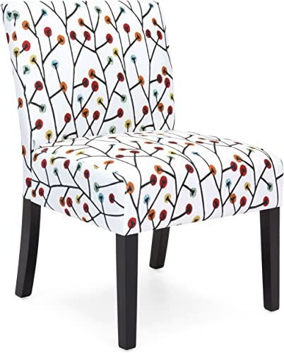 Best Choice Products Upholstered Accent Chair w Floral Patterns Multicolor