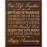 amazon com 60th wedding anniversary sofa throw 60th anniversary