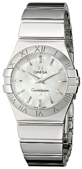 Omega - Reloj de pulsera analógico para mujer cuarzo acero inoxidable 12310276005002: Amazon.es: Relojes
