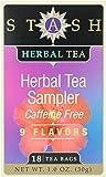Stash Herbal Tea Sampler, Variety Pack of Nine Flavors, Tea , 18 ct