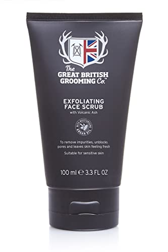 The Great British Grooming Company Exfoliating Face Scrub With Volcanic Ash 100ml