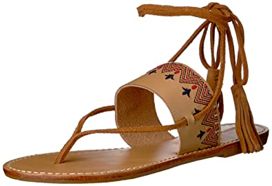 9c84957ee0bb Soludos Women s Flat Lace-Up Sandal Tan 5 B US B ...