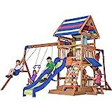 Beach Front All Cedar Wooden Swing Set
