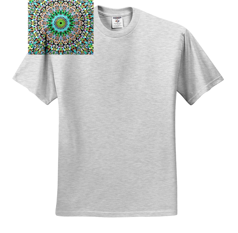 Floral Mandalas T-Shirts Multicolored Gravel Garden Mandala 3dRose David Zydd Bohemian Graphic