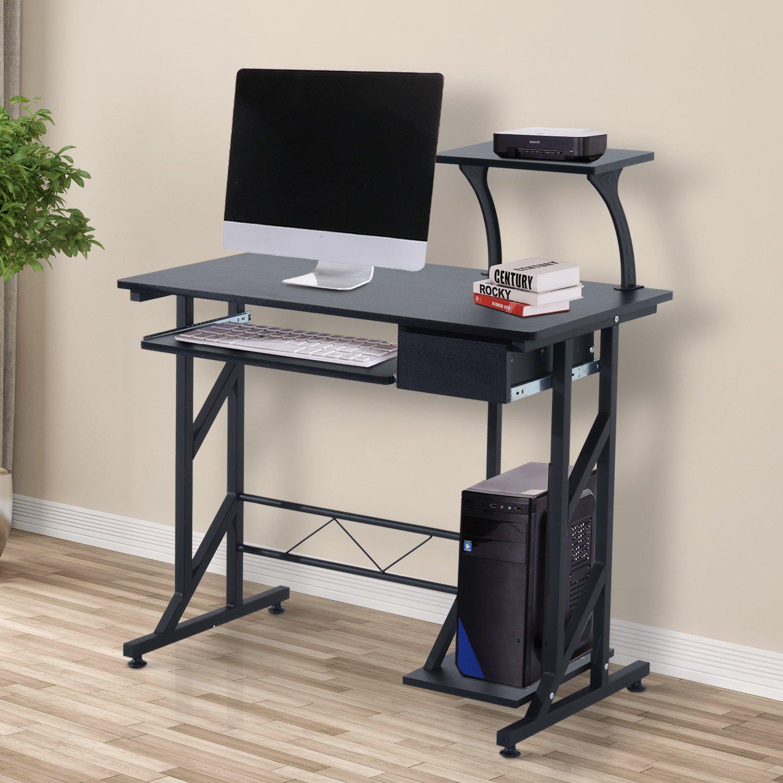 Mesa de PC Mesa de Ordenador Escritorio de Oficina Mesa para Hogar ...