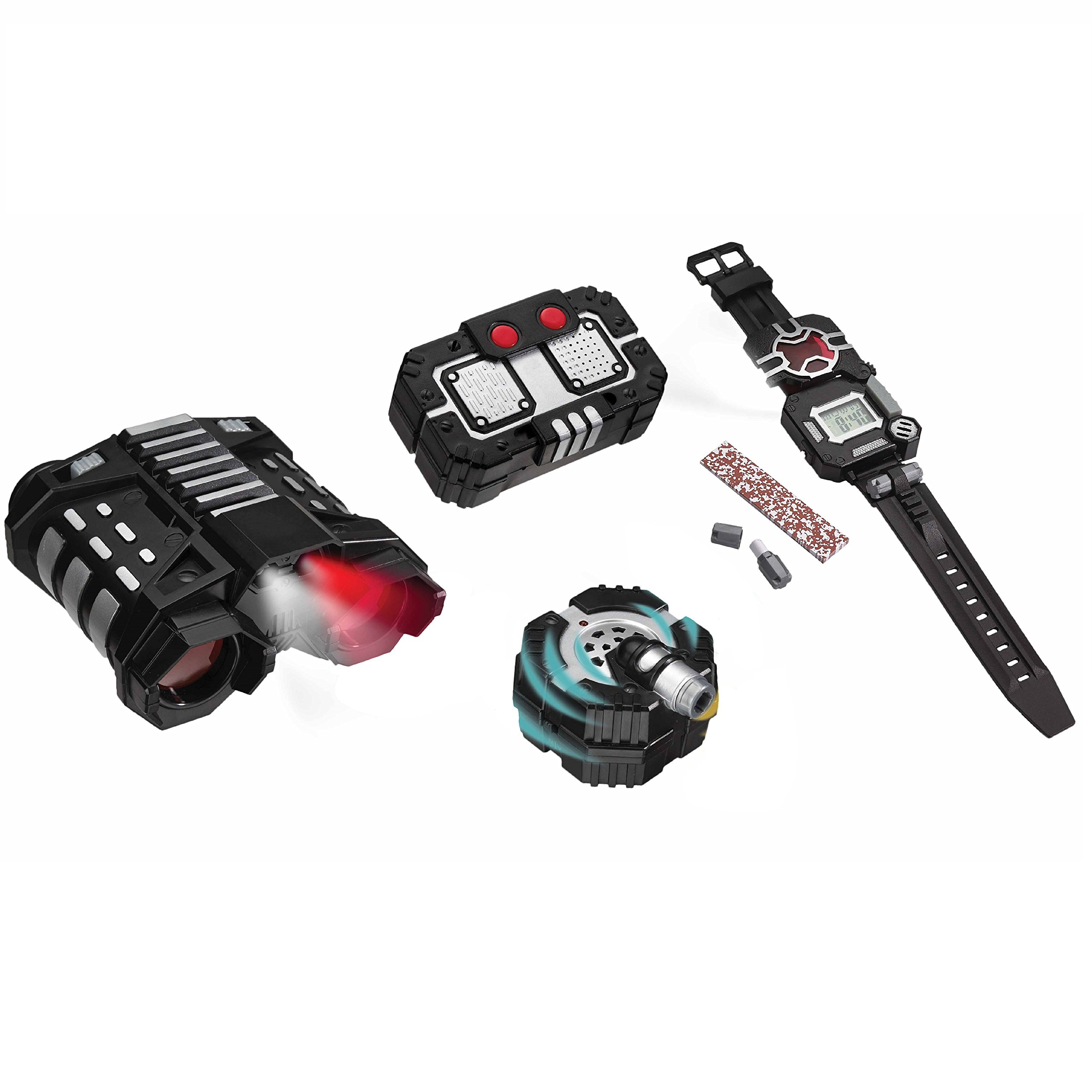 SpyX Recon Set - Includes Night Nocs + Voice Disguiser + Recon Watch + Motion Alarm. Perfect for Your Next Recon Mission and an Awesome Addition for Your spy Gear Collection! by SpyX