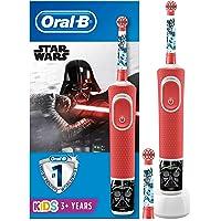 Oral-B Kids - Cepillo Eléctrico Recargable con Tecnología de Braun, 1 Mango de Star Wars, Apto para Niños Mayores de 3 Años