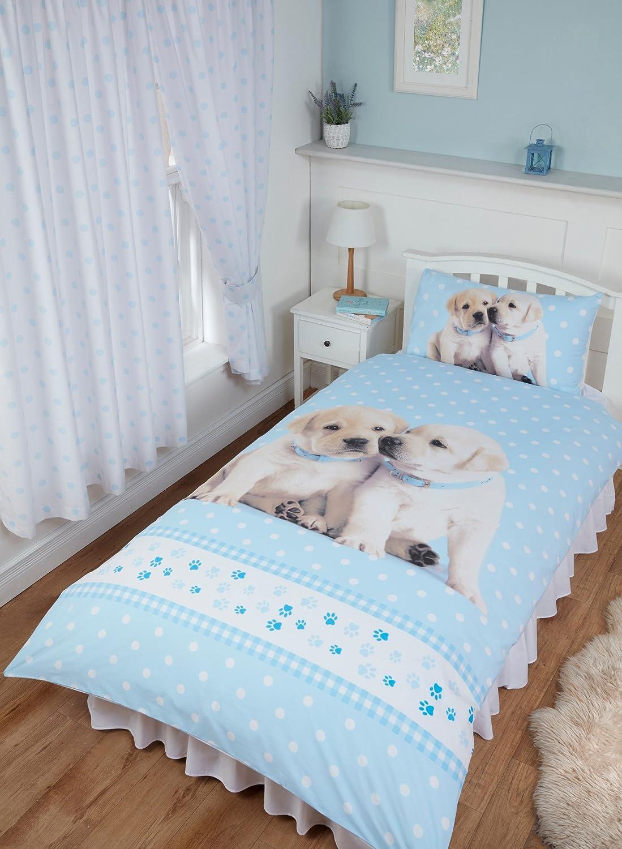 Kitten Polka Dot Gingham Pink White Rachael Hale Duvet Cover Bedding Curtains