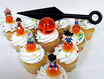 Buy Dragon Ball Z 8 Piece Cupcake Topper Set Featuring 6 Random