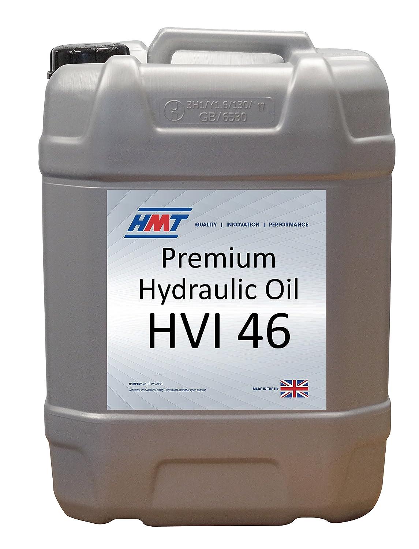 HMT HMTH01720L Premium Hydraulic Oil, HVI 46, 20 L