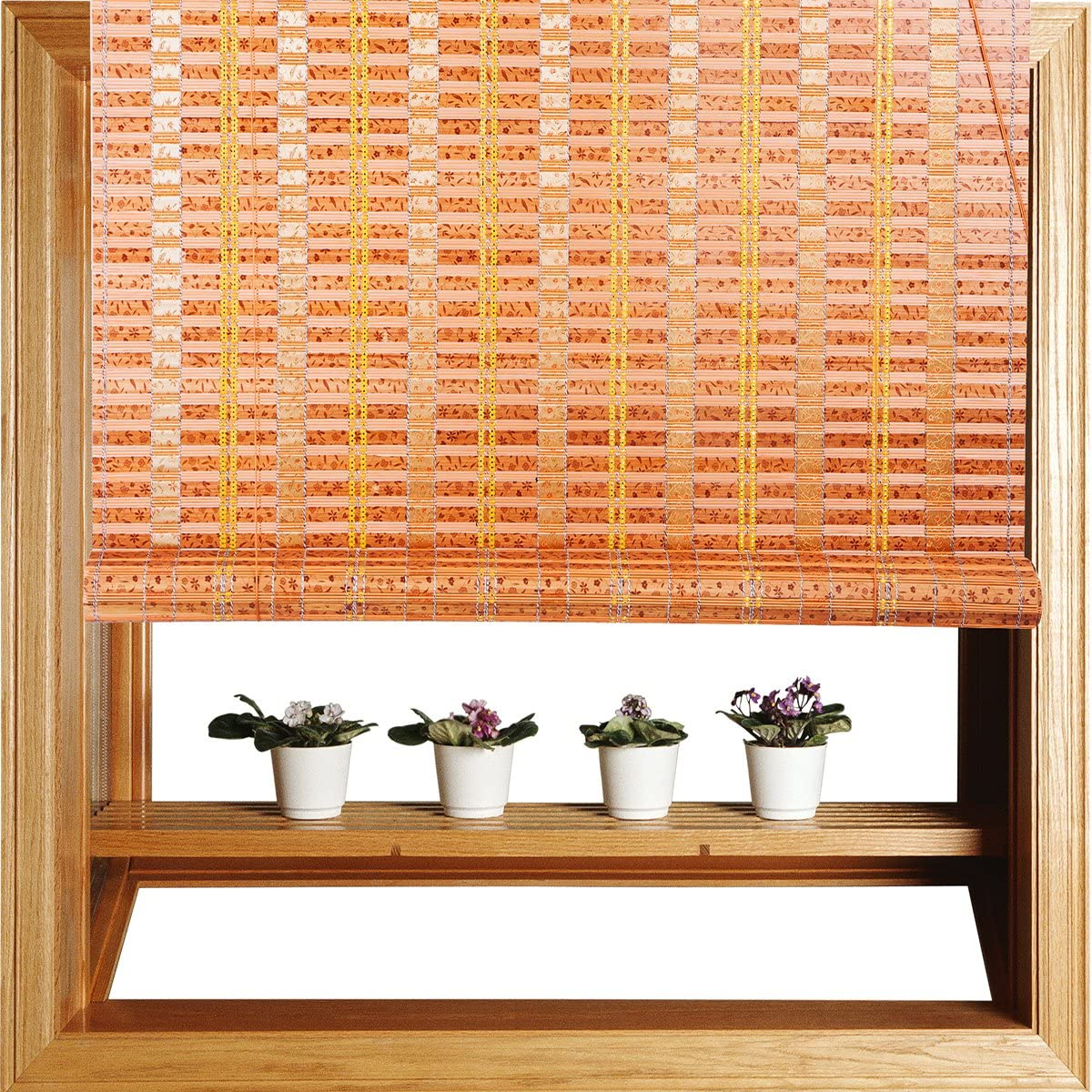 """THY COLLECTIBLES Natural Bamboo Roll Up Window Blind Sun Shade WB-G10 (24""""X72"""")"""