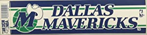 NBA Trench Dallas Mavericks Blue Logo Bumper Sticker
