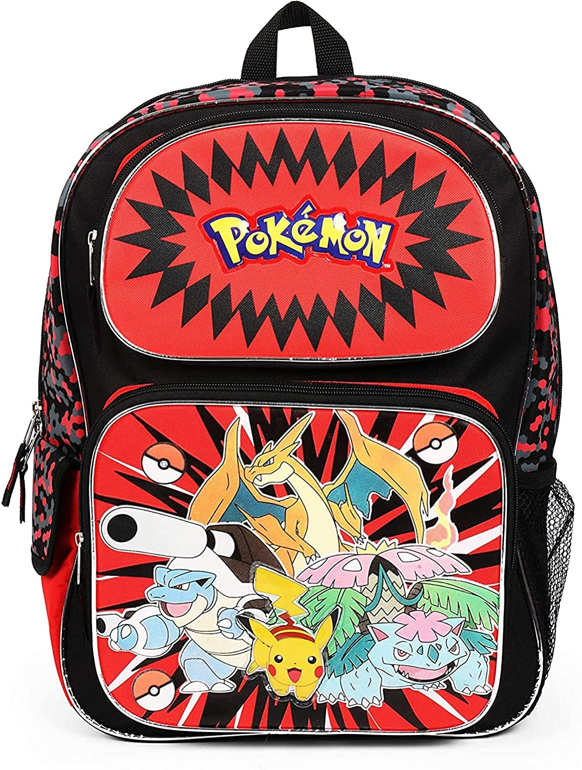 Pokemon and Friends 16 Inch Backpack School Bag