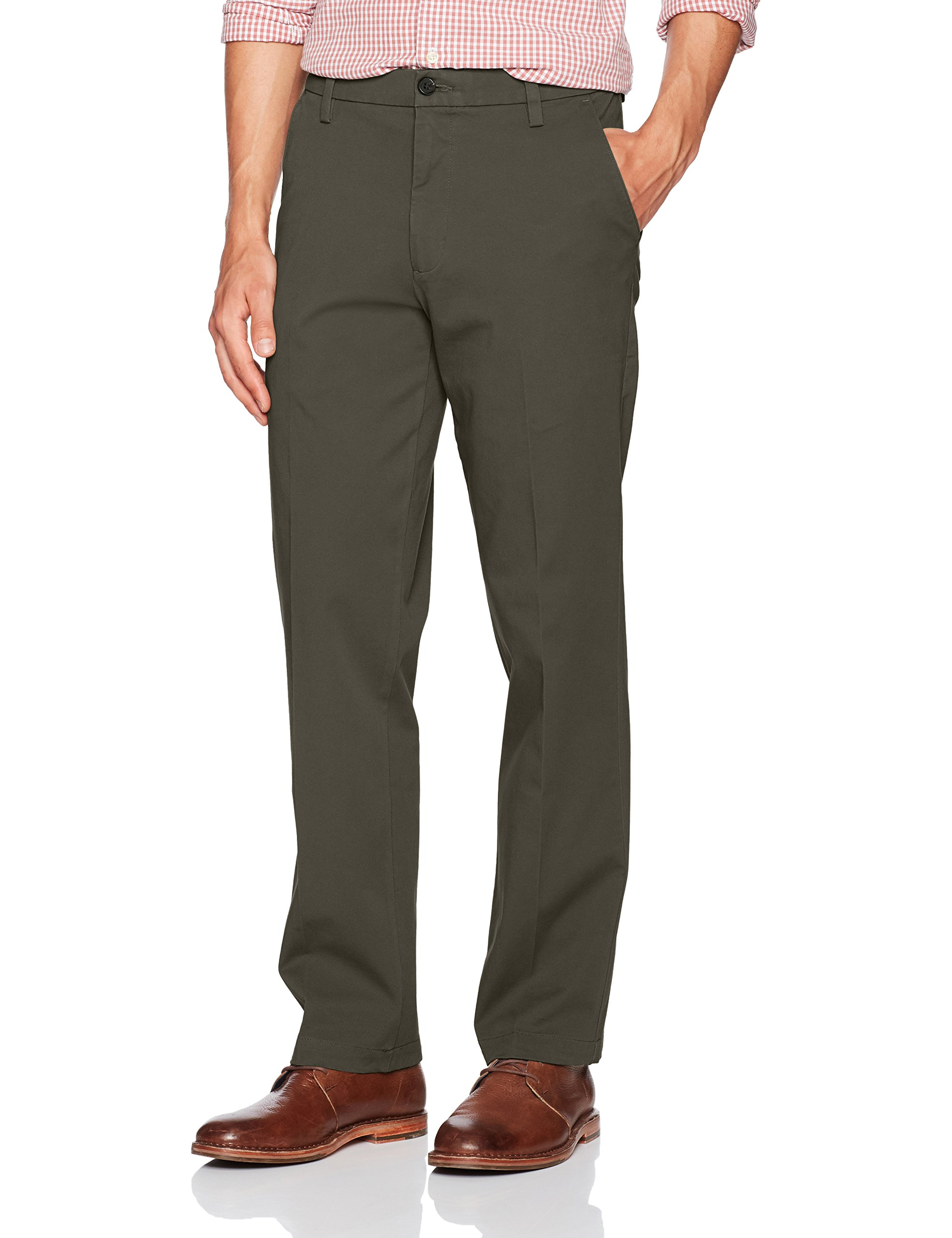 91cf42d6f0cff8 Dockers Men's Straight Fit Workday Khaki Pants with Smart 360 Flex, Storm  (Stretch)