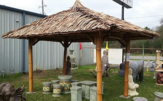 Bali Cenador, gazebo, Bali cabaña de bambú, 2 x 2 m, hasta 4 x 4 m: Amazon.es: Jardín