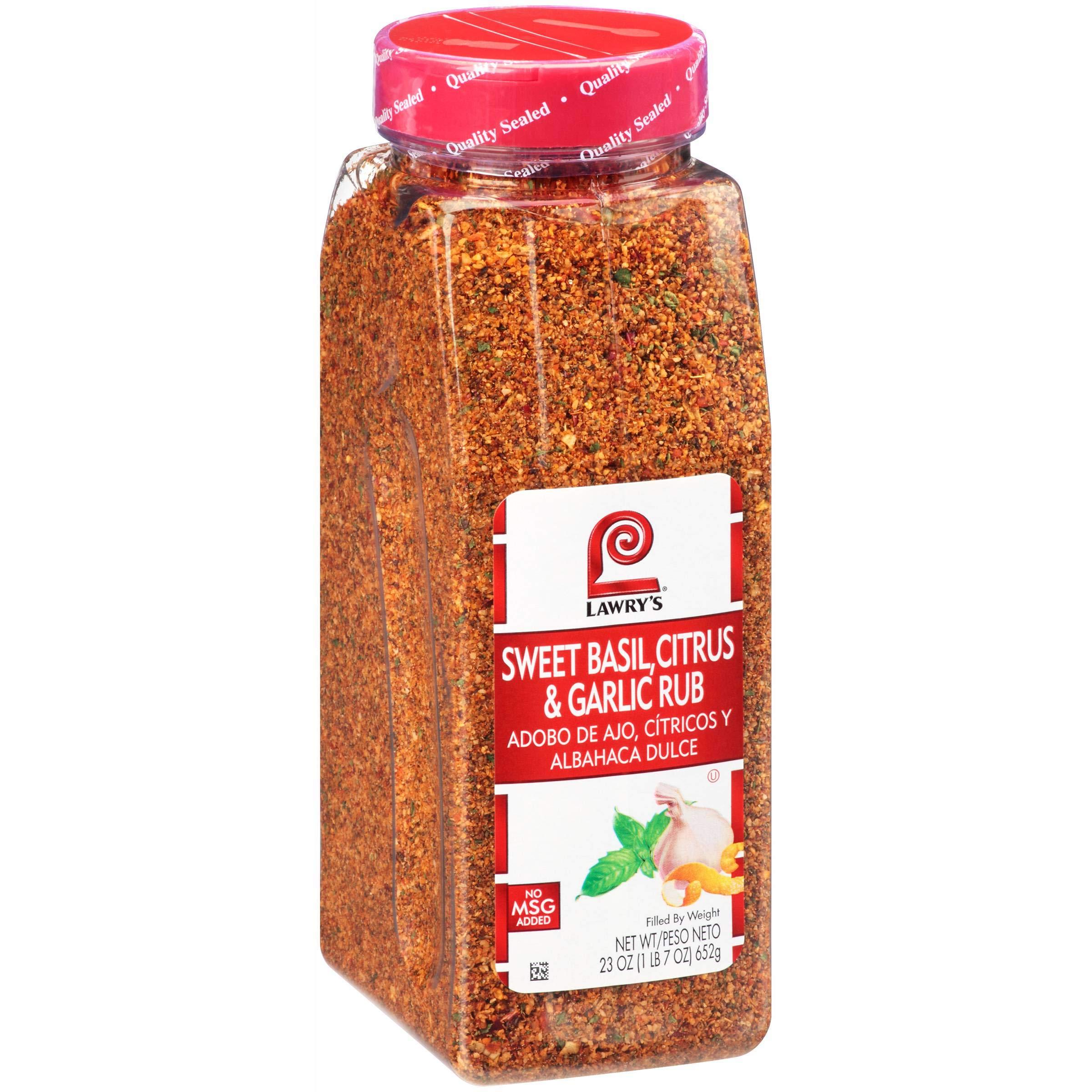 Lawrys Sweet Basil Citrus and Garlic Rub, 23 Ounce - 6 per case