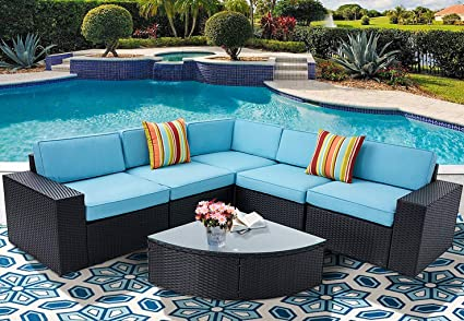 Amazoncom Incbruce Outdoor Patio Furniture Sets 6 Piece Outside