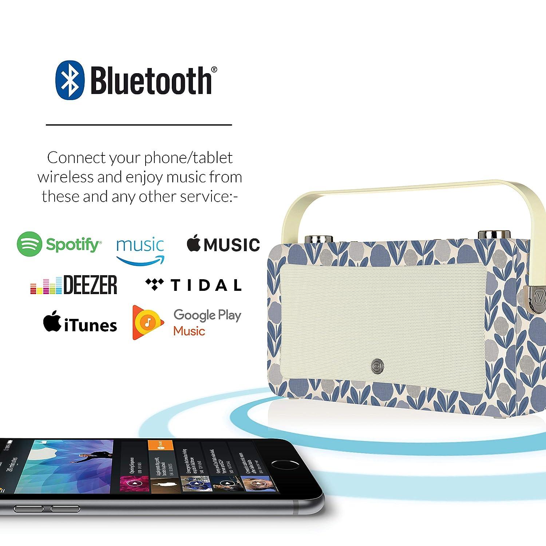 progettato da VQ Bluetooth e sveglia Blu Meghan Laura Ashley Hepburn Mk II Radio digitale DAB+ con FM