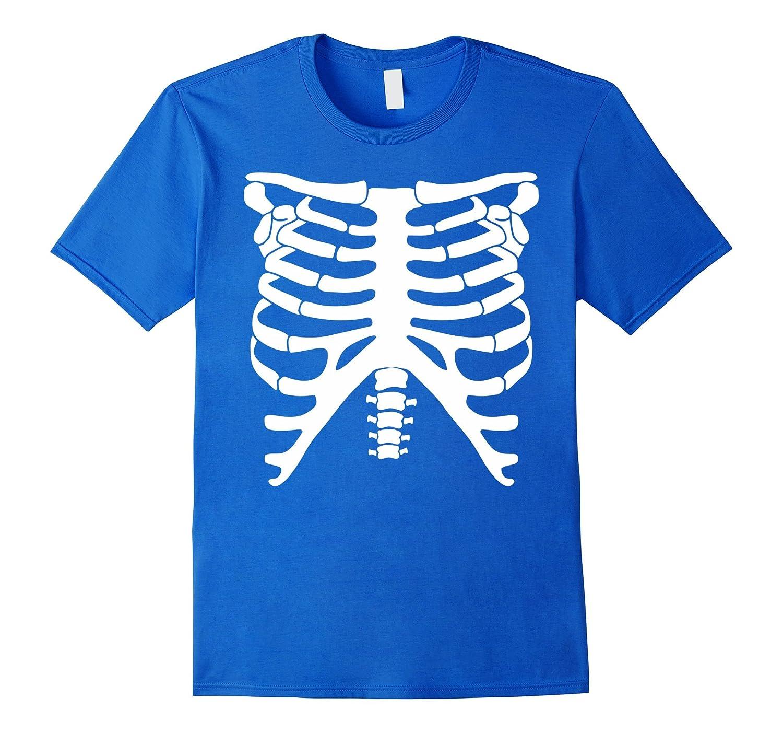 Halloween Skeleton Glow In The Dark Costume T-Shirt-FL