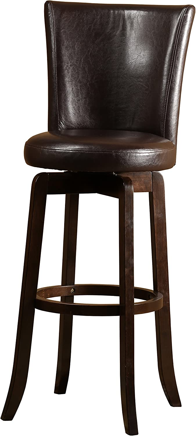 Hillsdale Furniture Copenhagen Swivel Counter Stool, Espresso