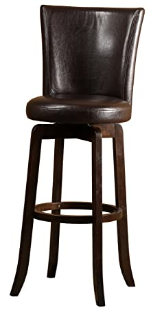 Hillsdale Furniture 4951-827 Copenhagen Swivel Counter Stool, Espresso