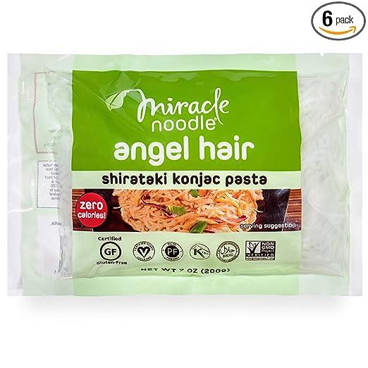 miracle noodle angel hair -- shirataki konjac pasta