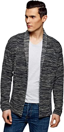 oodji Ultra Mens No Closure Jersey Cardigan