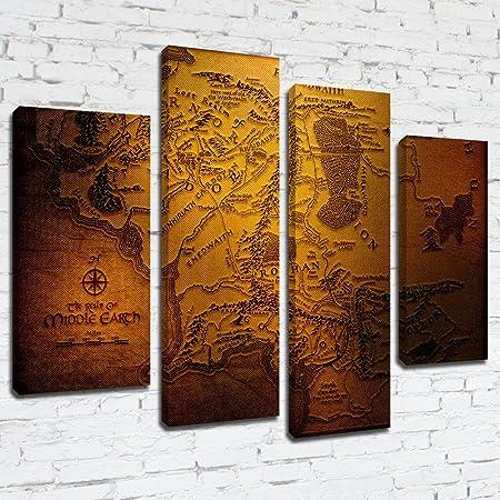 MPM191 el Señor de los anillos el reino de la Tierra Media mapa One himry Panel