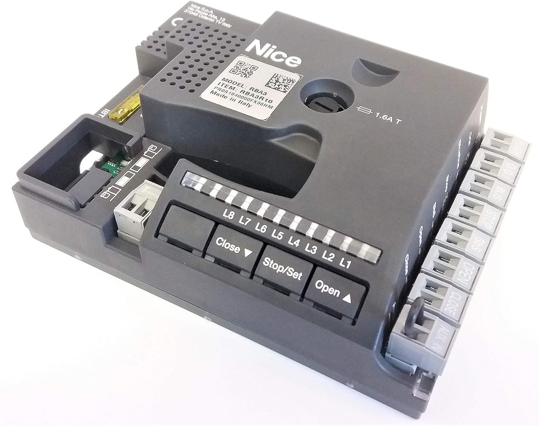 Nice SPRBA3R10 central de control con tarjeta electrónica para ROBUS y RUN sustituye a RBA3/C: Amazon.es: Bricolaje y herramientas