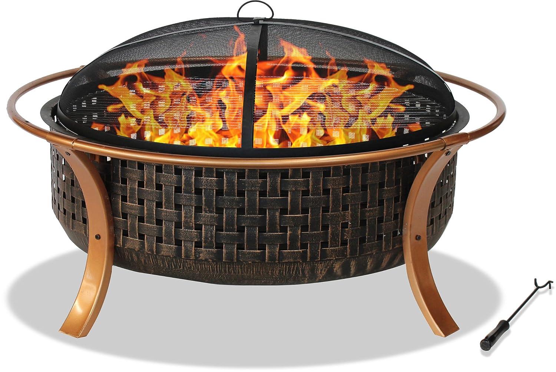 Centurion Supporta Fireology CAPULET Elegante Riscaldatore da Giardino e Patio, GRANDE Fossa del Fuoco, Barbecue - Finitura in Rame