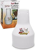 COOK'S CHOICE Ceramic Steamer Beer Can Roaster- Fat Boy Sittin' Turkey