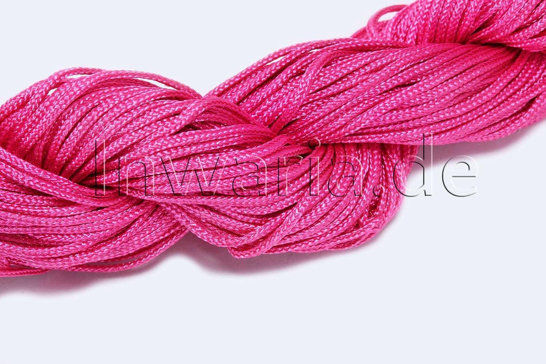 Generic INWARIA 0, 07/€//m 30 m Flechtkordel /Ø 1 mm Satinkordel Band Schnur Perlenschnur pink SK-10