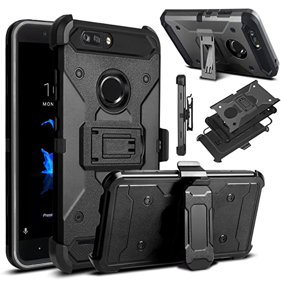 promo code 271b6 801a5 Venoro Compatible with ZTE Blade Z Max Case, ZTE ZMax Pro 2 Case, ZTE  Sequoia Case, Shockproof Protection Case Cover with Belt Swivel Clip and ...
