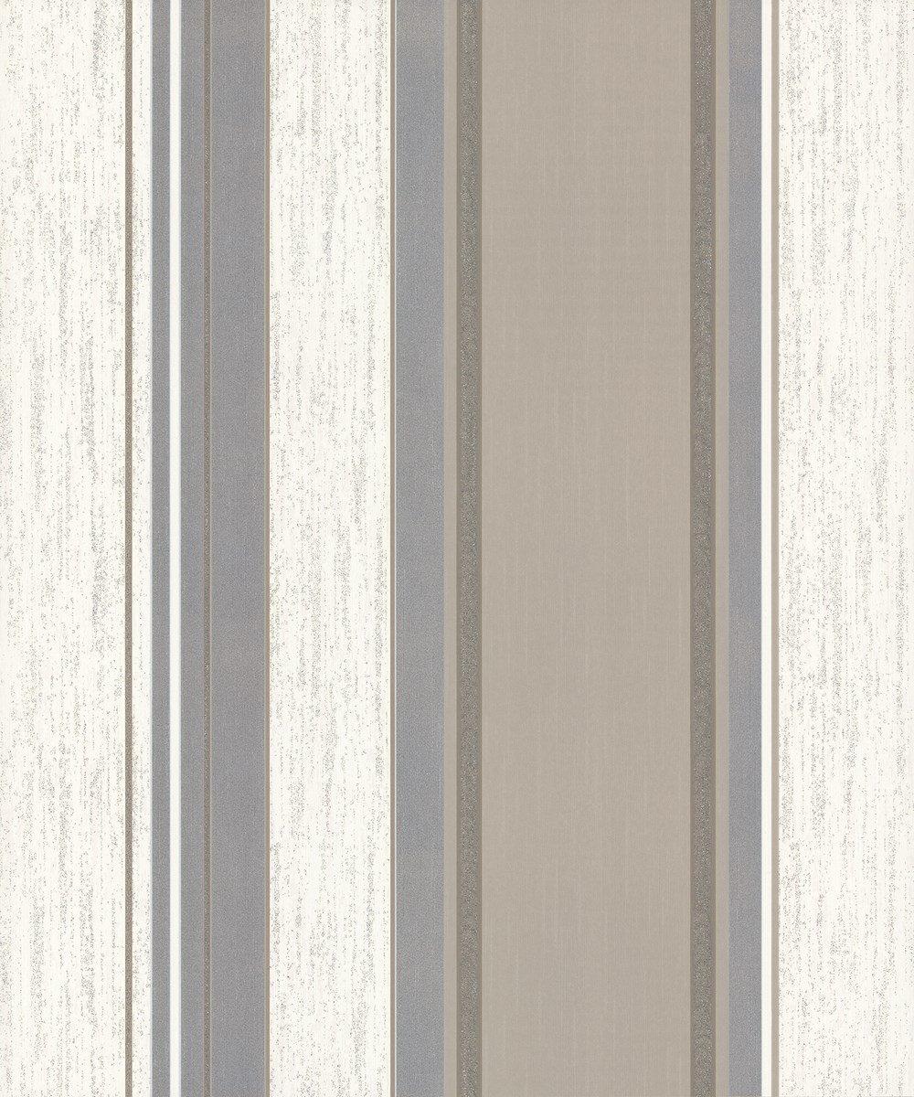 Vymura Synergy dise/ño de rayas papel pintado gris//plata//blanco M0785