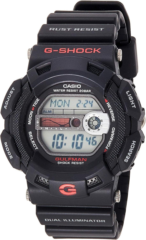Casio G-SHOCK Reloj Digital, 20 BAR, Negro, para Hombre, G-9100-1ER