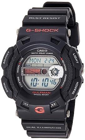 retrò prezzi al dettaglio brillantezza del colore Casio G-SHOCK Orologio 20 BAR, Rosso/Nero, Digitale, Uomo, G-9100 ...