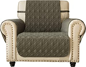 """Ameritex Waterproof Nonslip Chair Cover for Leather, Dog Chair Cover Furniture Protector, Ideal Chair Slipcovers for Pets and Kids, Stay in Place (23"""", Green)"""
