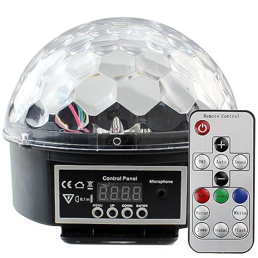 PMS Bombillas de Iluminación de Discoteca con Mando a distancia, 7 Colores LED Làmpara para