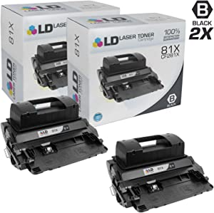 LD Compatible Toner Cartridge Replacement for HP 81X CF281X High Yield (Black, 2-Pack)