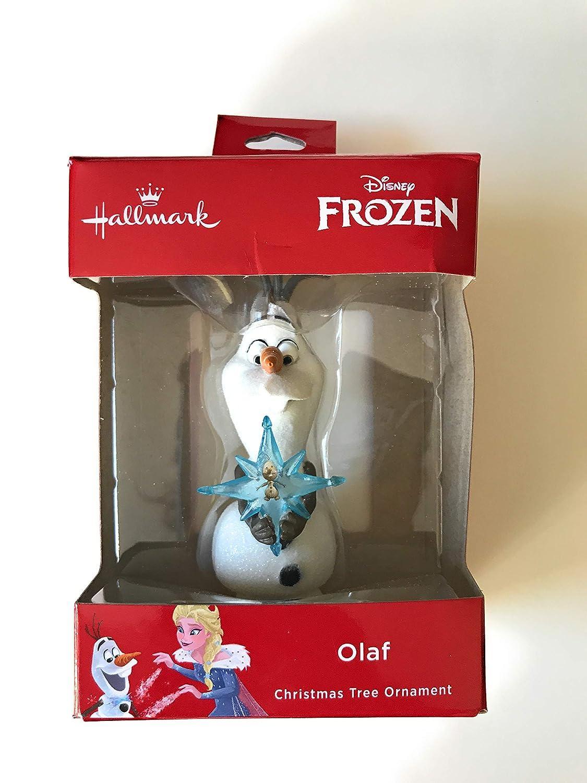 Amazon.com: Disney Hallmark Frozen Olaf Holding Olaf Ice Star ...