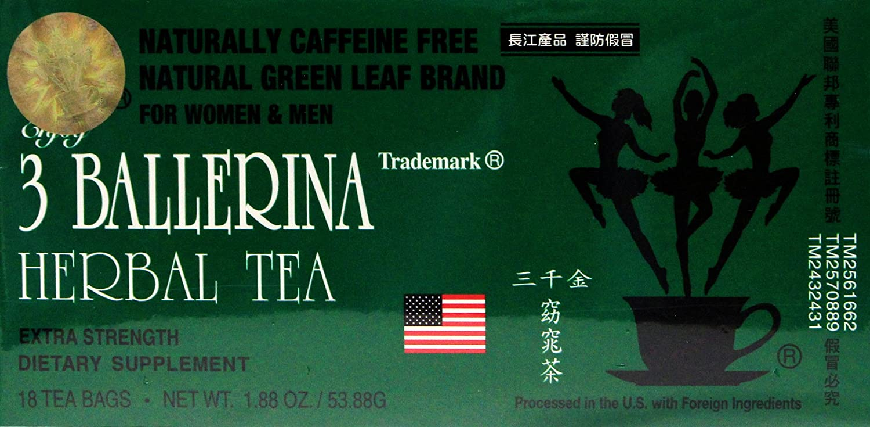 3 Ballerina Herbal slim tea Extra Strength Dietary supplement 18 tea bags (pack of 3) : Grocery & Gourmet Food
