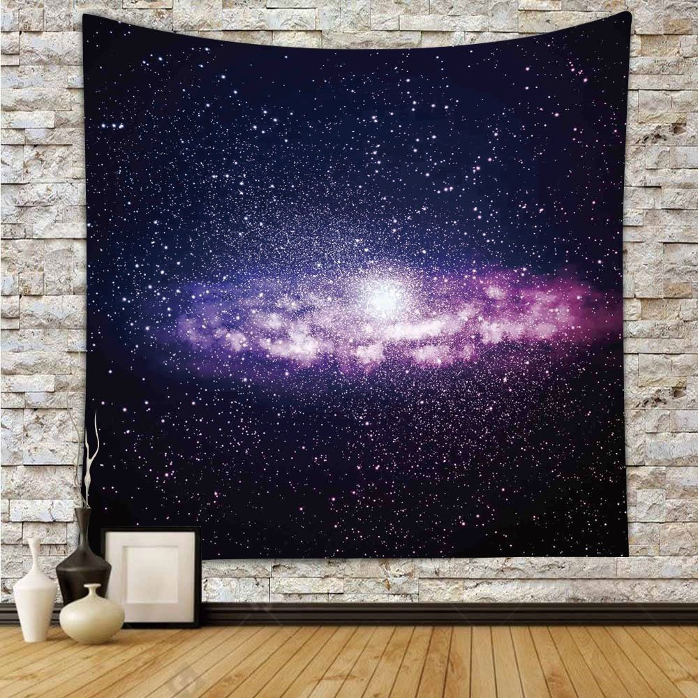 Polyester Tapestry Wall Hanging,Galaxy,Nebula Cloud in Milky Way Infinity in Interstellar Solar System Design Print,Purple Dark Blue,Wall Decor for Bedroom Living Room Dorm