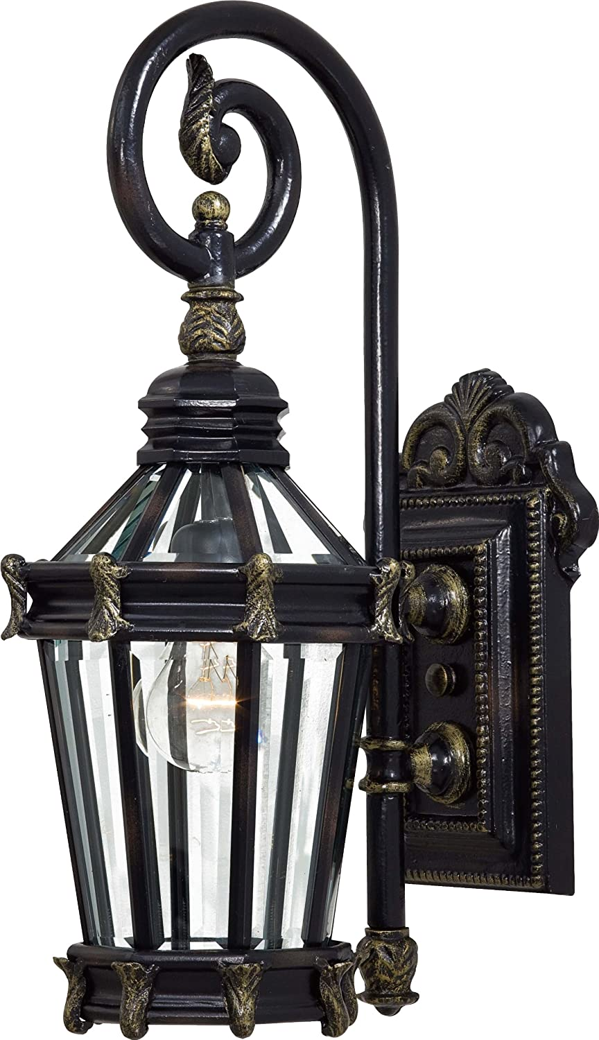 Stratford Hall Outdoor Wall Lantern In Heritage With Gold Highlights   Wall  Porch Lights   Amazon.com
