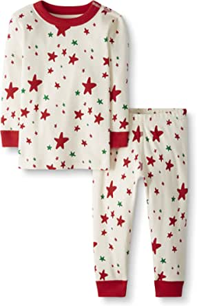 Moon and Back by Hanna Andersson Organic Holiday Family Matching 2 Piece Pajama Set Unisex niños, Pack de 2